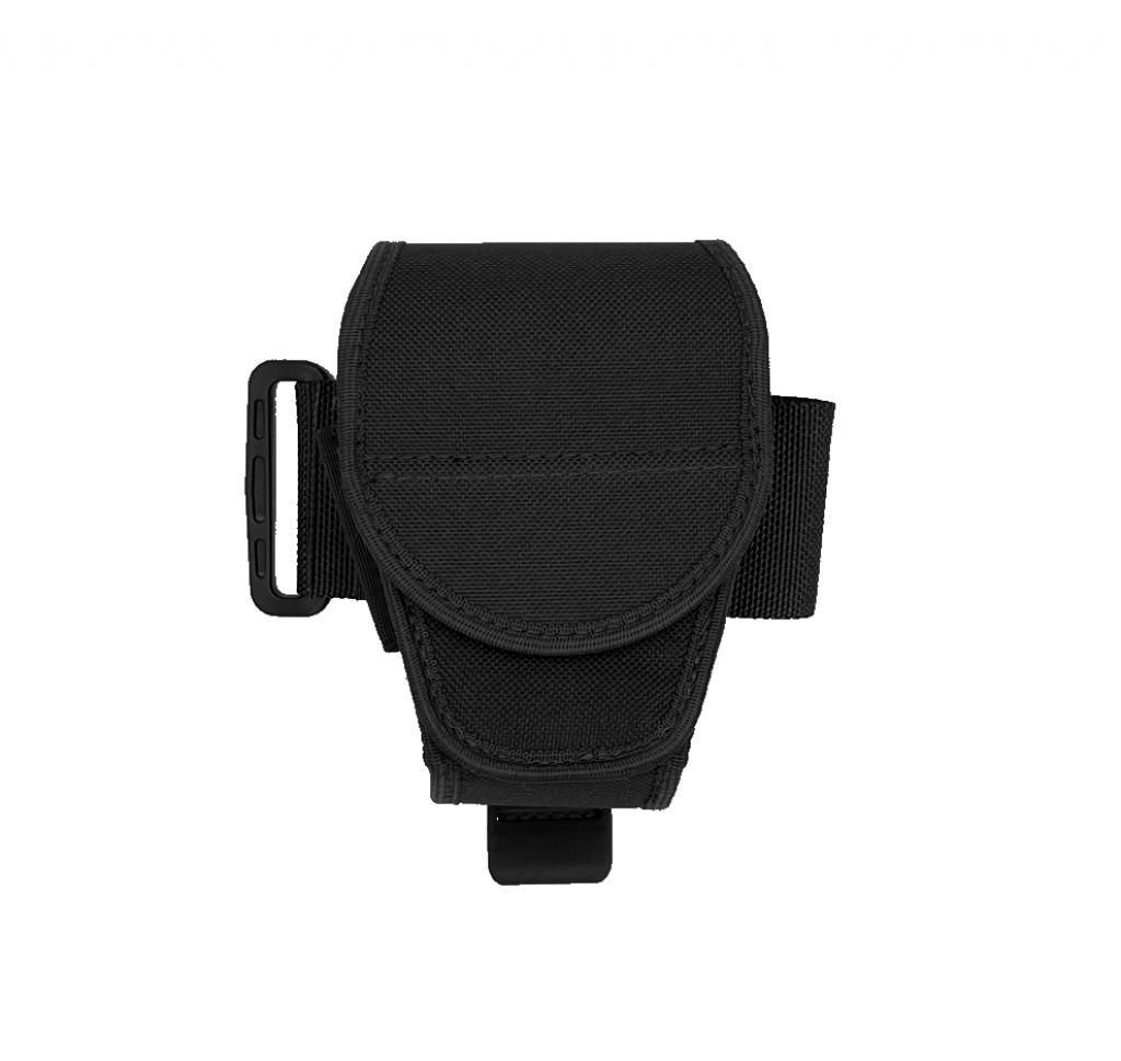 AUTHORITIES BUCKLE REPLACEMENT DOUBLE HANDCUFF CASE BLACK