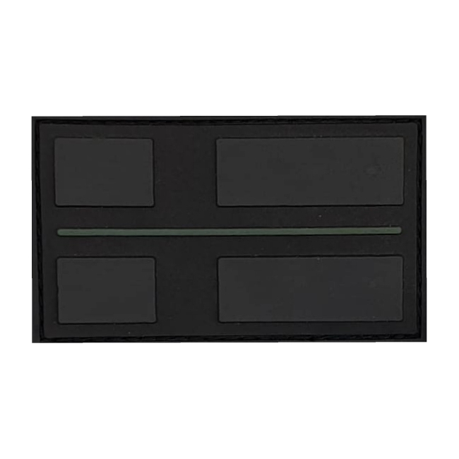 Thin Military Green Line Patch 3D