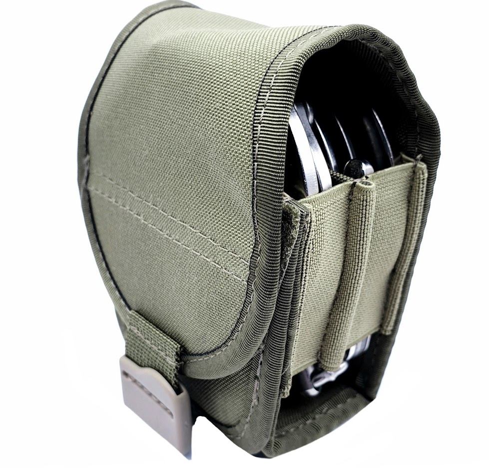 Authorities PRO-MOLLE DOUBLE Hand Cuff Pouch, RANGER GREEN