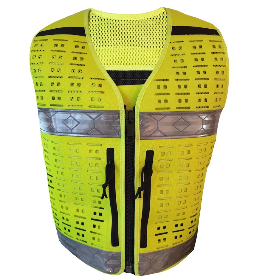 Authorities Tactical Vest HI-VIZ YELLOW - size UNIVERSAL