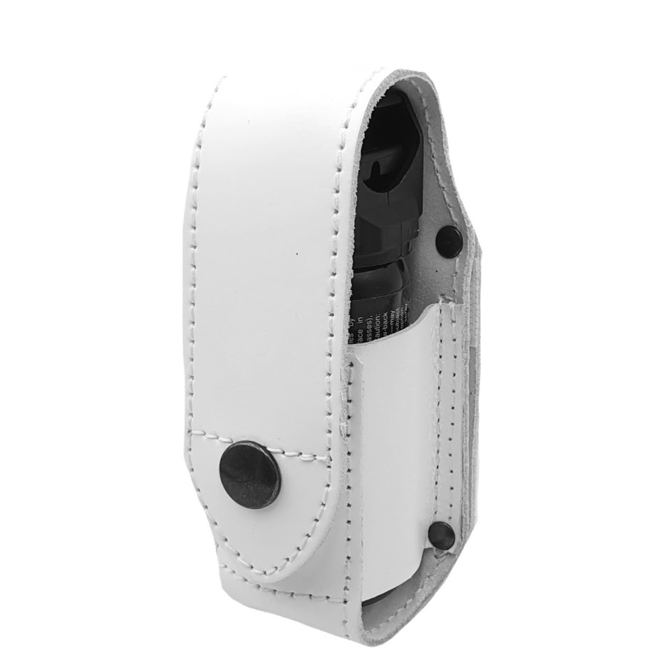 Authorities Pepper Spray Holster MK-3 Leather WHITE