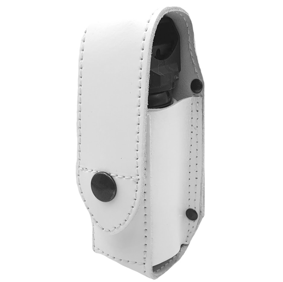 Authorities Pepper Spray Holster MK-3.5 Leather WHITE