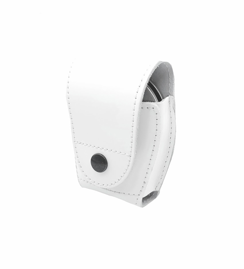 Authorities Leather Handcuff Case WHITE