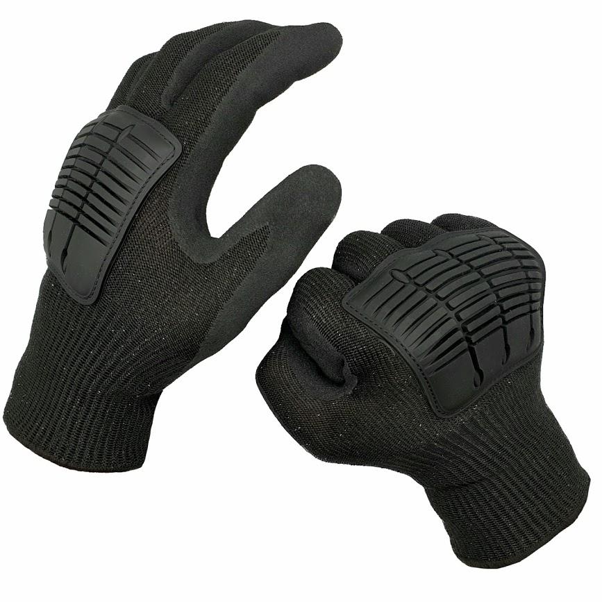 Authorities Black Protective Gloves