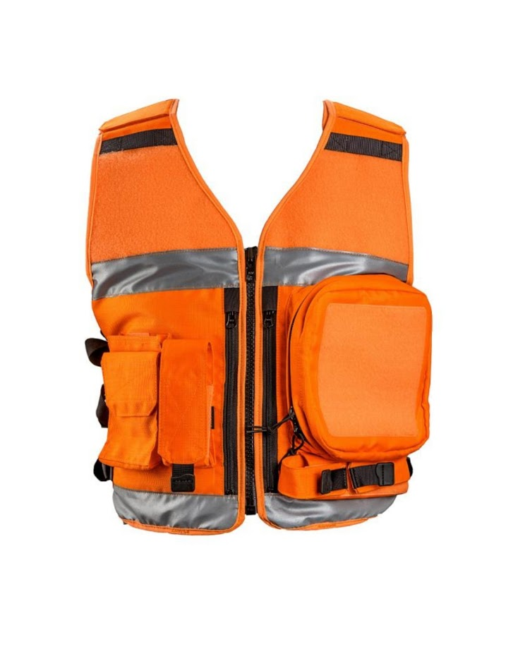 AUTHORITIES HI-VIZ EQUIPMENT VEST ORANGE